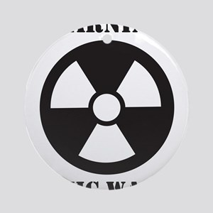 Warning - Toxic Waste Ornament (Round)