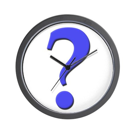 Question mark blue, t shirts, gifts Wall Clock
