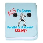 Ass To Grass Squats baby blanket