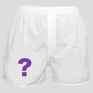 Question mark, purple, t shirts, mugs,gifts Boxer