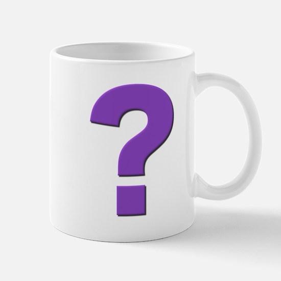 Question mark, purple, t shirts, mugs,gifts Mug