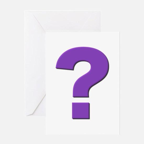 Question mark, purple, t shirts, mugs,gifts Greeti