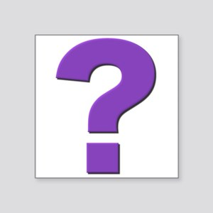 Question mark, purple, t shirts, mugs,gifts Sticke