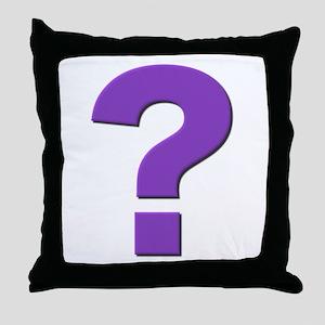 Question mark, purple, t shirts, mugs,gifts Throw