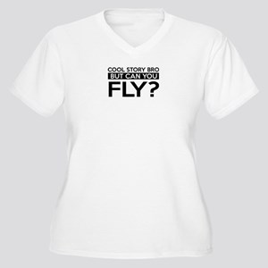 Fly job gifts Women's Plus Size V-Neck T-Shirt