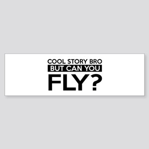 Fly job gifts Sticker (Bumper)