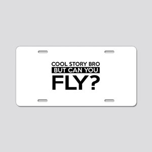 Fly job gifts Aluminum License Plate