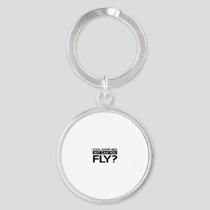 Fly job gifts Round Keychain