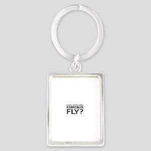 Fly job gifts Portrait Keychain