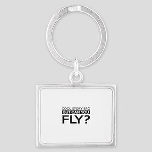 Fly job gifts Landscape Keychain