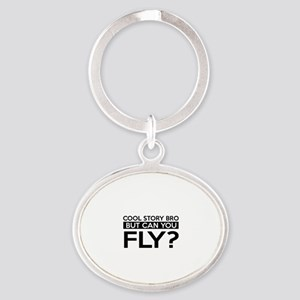 Fly job gifts Oval Keychain