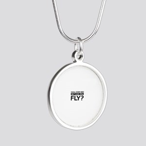 Fly job gifts Silver Round Necklace