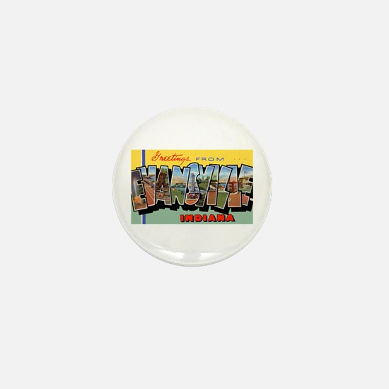 Evansville Indiana Greetings Mini Button