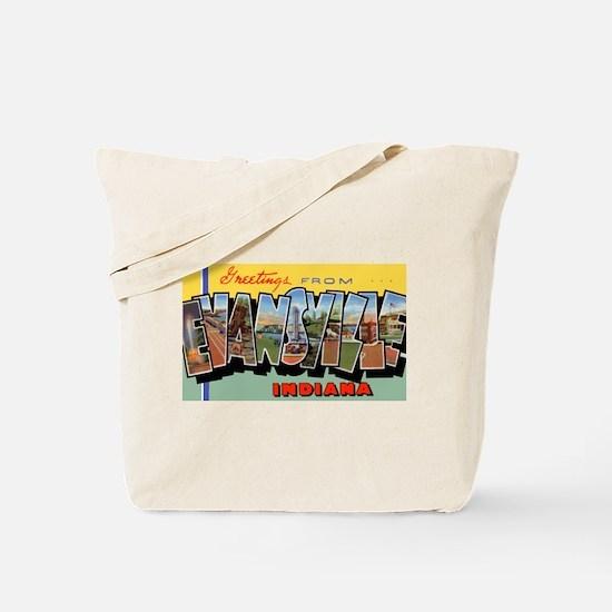 Evansville Indiana Greetings Tote Bag