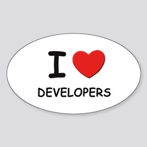 I love developers Oval Sticker
