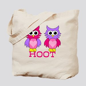 two owls hoot Tote Bag