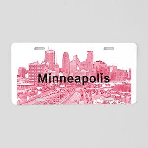 Minneapolis Aluminum License Plate