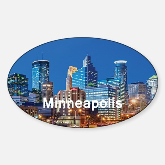 Minneapolis Sticker (Oval)