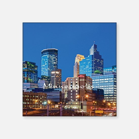 "Minneapolis Square Sticker 3"" x 3"""