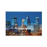 Minneapolis Rectangle Magnet (100 pack)