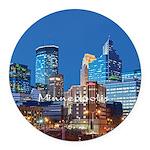 Minneapolis Round Car Magnet