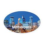 Minneapolis Oval Car Magnet