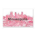 Minneapolis Car Magnet 20 x 12