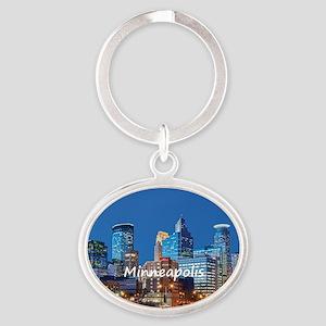 Minneapolis Oval Keychain