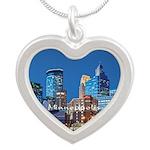 Minneapolis Silver Heart Necklace