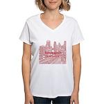 Minneapolis Women's V-Neck T-Shirt