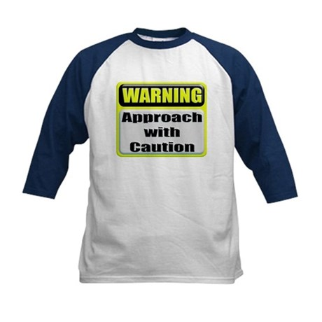 Approach With Caution Kids Baseball Jersey