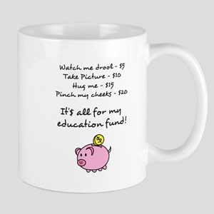 Price List for Education Fund with Piggy Bank Mug