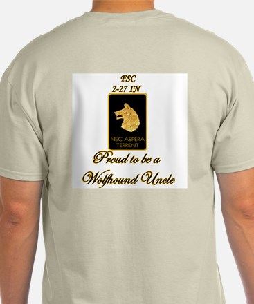 Proud Wolfhound Uncle - Sgt Ash Grey T-Shirt