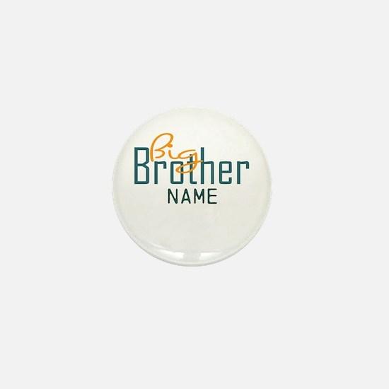 Personalized Add Name Big Brother Print Mini Butto