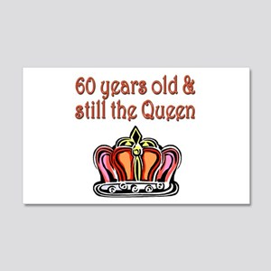 60 YR OLD QUEEN 20x12 Wall Decal