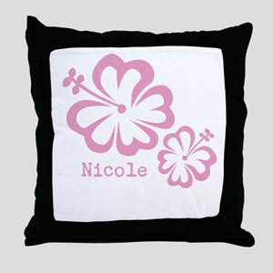 Customized (add your name) Hibiscus Print Throw Pi