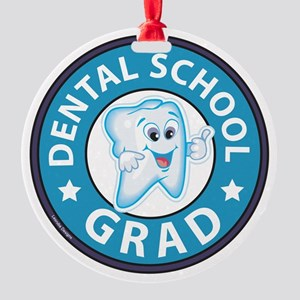 Dental School Graduation Round Ornament