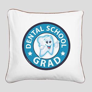 Dental School Graduation Square Canvas Pillow