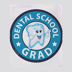 Dental School Graduation Throw Blanket