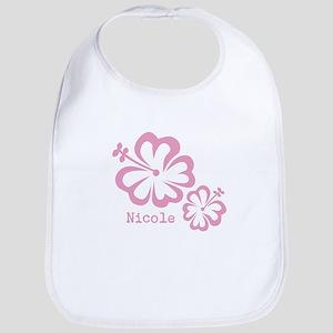 Customized (add your name) Hibiscus Print Bib