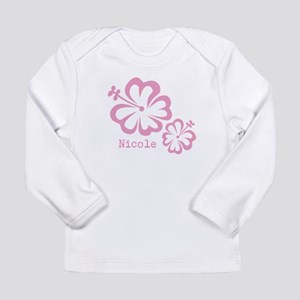 Customized (add your name) Hibiscus Print Long Sle