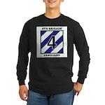 Mens 4th Brigade Long Sleeve Black T-Shirt