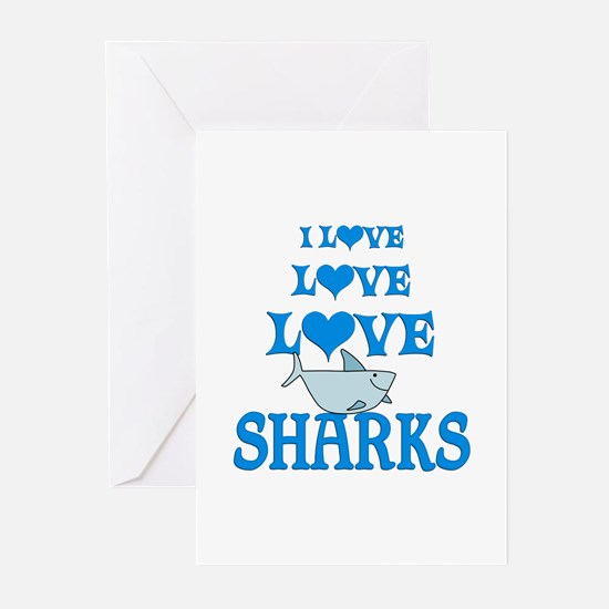 Love Love Sharks Greeting Cards (Pk of 20)