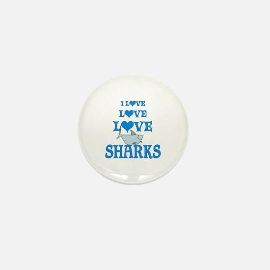 Love Love Sharks Mini Button