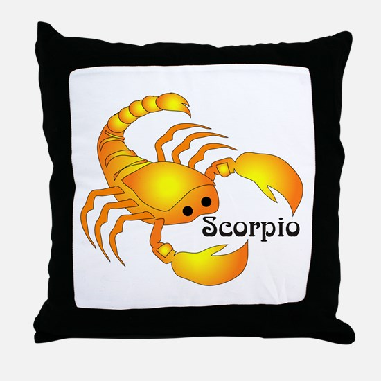 Whimsical Scorpio Throw Pillow