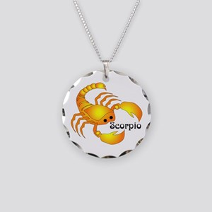 Whimsical Scorpio Necklace Circle Charm