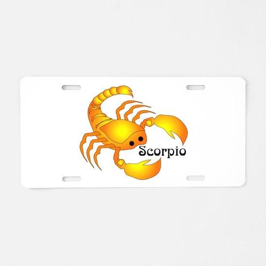 Whimsical Scorpio Aluminum License Plate