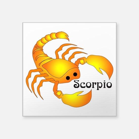 """Whimsical Scorpio Square Sticker 3"""" x 3"""""""