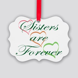 Sisters Are Forever Picture Ornament