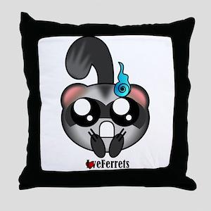Kawaii Ferrets Throw Pillow